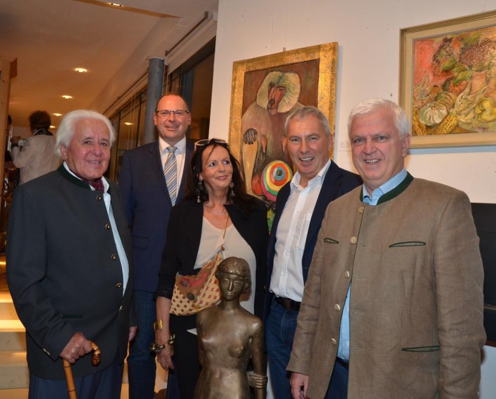 Erich Ruprecht, Josef Rathgeb, Dorotheè Priglinger, Franz Reisinger und Peter Sonnberger. Bild: Ganglberger
