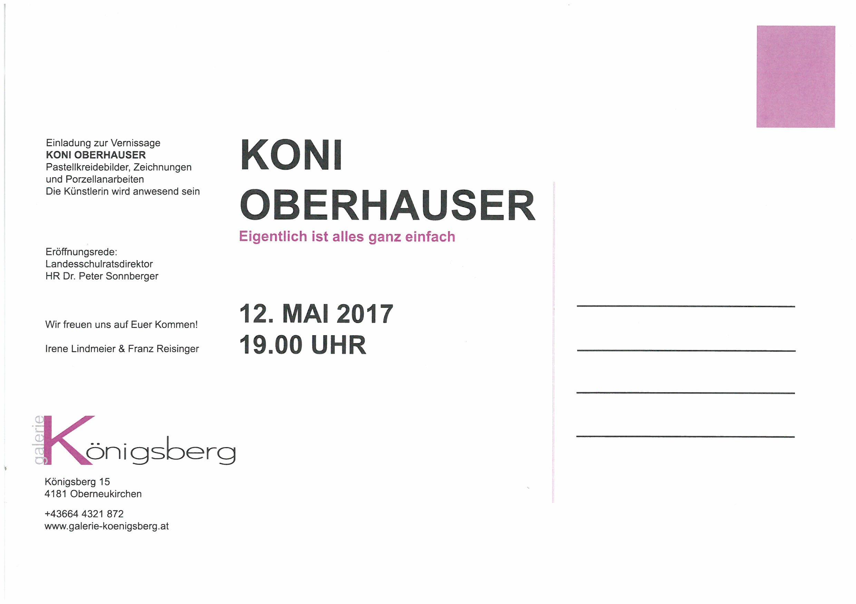 Die Einladung Koni Oberhauser