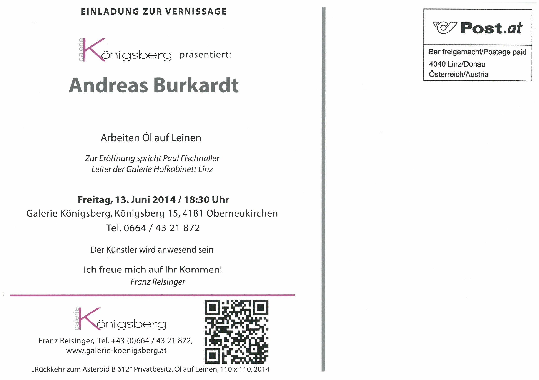 Die Einladung Andreas Burkardt